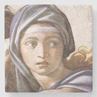 Michelangelo The Delphic Sibyl stone coaster