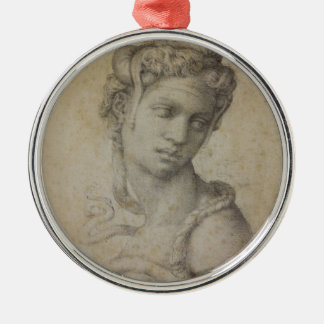 Michelangelo's Cleopatra Silver-Colored Round Ornament