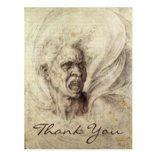 Michelangelo's Damned Soul Postcard