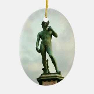 Michelangelo's David 2 Ceramic Oval Ornament