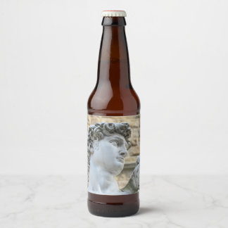 Michelangelo's David, Florence Italy Beer Bottle Label