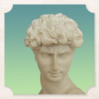 Michelangelo's David Paper Coaster