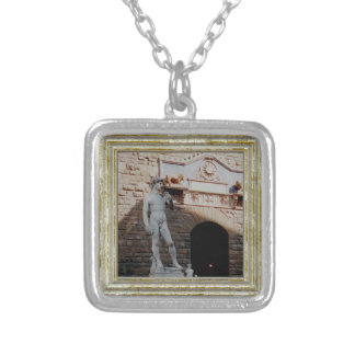 Michelangelo's David Silver Plated Necklace