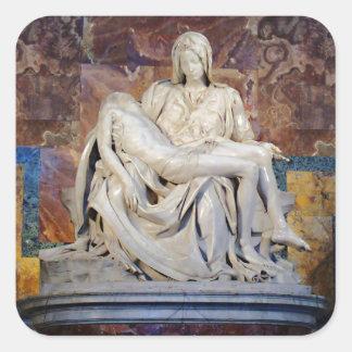 Michelangelo's Pieta Square Sticker