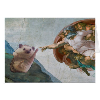 Michelangelo's The Creation of Hedgehog Card
