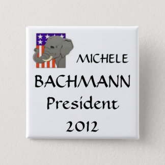 MICHELE, BACHMANN, President 2012 2 Inch Square Button
