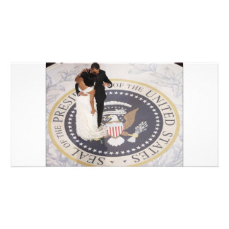 Michelle and Barack Obama Photo Card