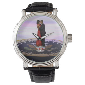 Michelle and Barack Obama Watch