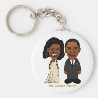 Michelle & Barack Obama keychain