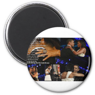 Michelle & Barack Obama Love Magnet