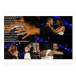 Michelle & Barack Obama Love Postcard