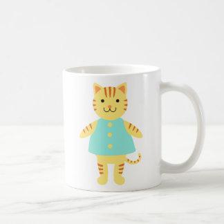 Michelle Cat Basic White Mug