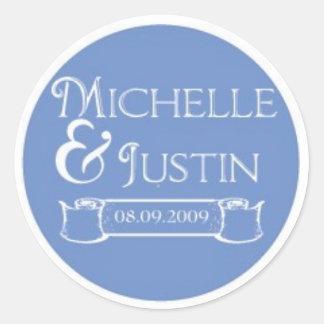 michelle logo classic round sticker