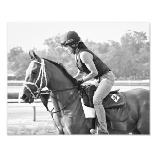 Michelle Nihei on opening day at Saratoga Photo Print