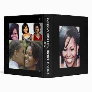 MICHELLE OBAMA, AMERICAN FIRST LADY binder