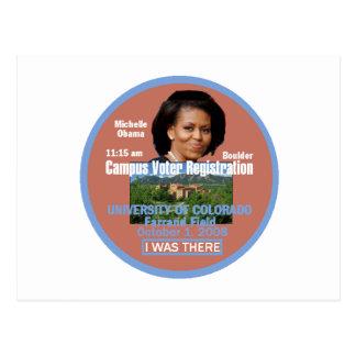 Michelle Obama Boulder Postcard