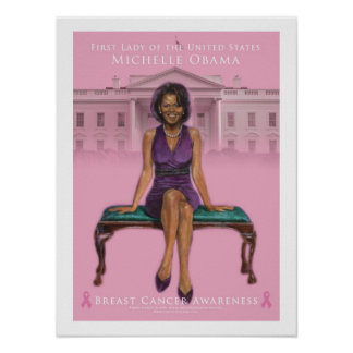 Michelle Obama-Breast Cancer Awareness 15 x 20 Poster