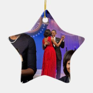 Michelle Obama Ceramic Ornament