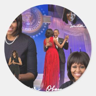 Michelle Obama Classic Round Sticker