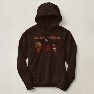 Michelle Obama Family Embroidered Hooded Sweatshirts