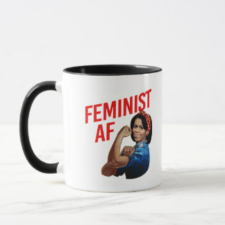 Michelle Obama - Feminist AF - red --  Mug