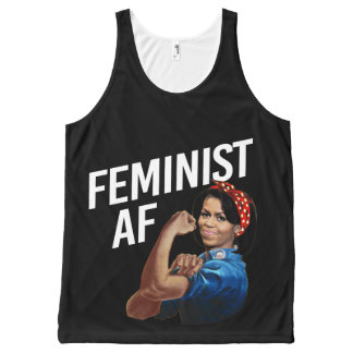 Michelle Obama - Feminist AF - white --  All-Over-Print Tank Top