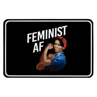 Michelle Obama - Feminist AF - white --  Magnet