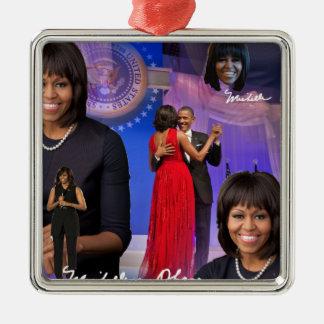 Michelle Obama Metal Ornament