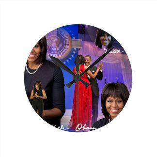 Michelle Obama Round Clock