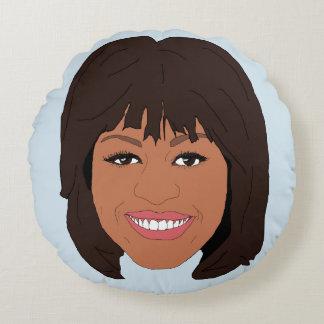 Michelle Obama Round Pillow