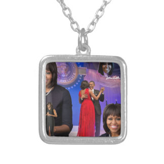 Michelle Obama Silver Plated Necklace