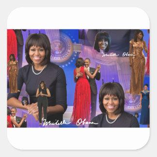 Michelle Obama Square Sticker