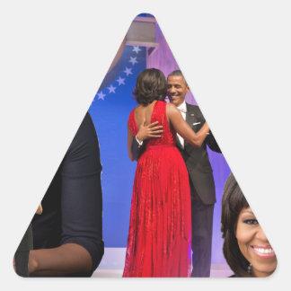Michelle Obama Triangle Sticker