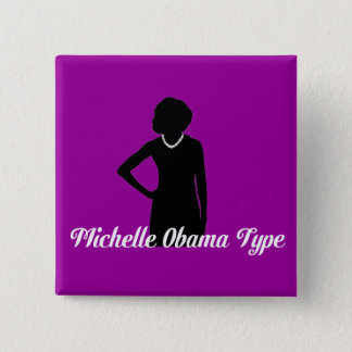 Michelle Obama Type button, Amethyst Purple 2 Inch Square Button