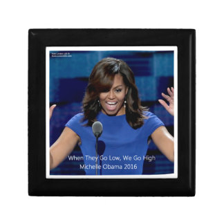"""Michelle Obama """"We Go High"""" Collectible Gift Box"""