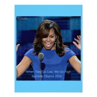 """Michelle Obama """"We Go High"""" Collectible Letterhead Template"""