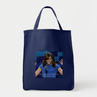 """Michelle Obama """"We Go High"""" Collectible Tote Bag"""
