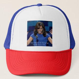 "Michelle Obama ""We Go High"" Collectible Trucker Hat"