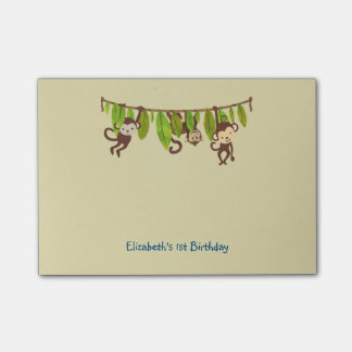 Michievous Monkeys Hanging from a Jungle Vine Post-it Notes