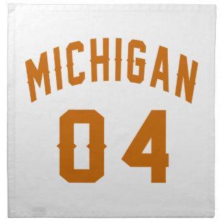 Michigan 04 Birthday Designs Napkin
