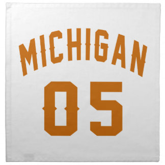 Michigan 05 Birthday Designs Napkin