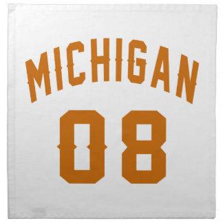 Michigan 08 Birthday Designs Napkin