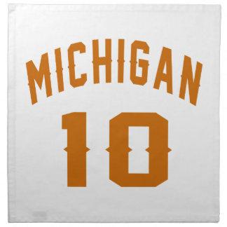 Michigan 10 Birthday Designs Napkin