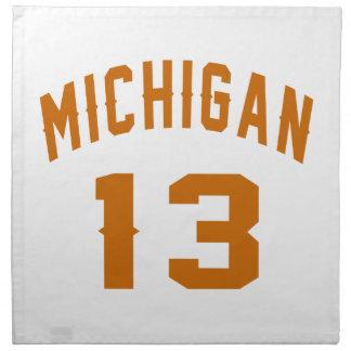 Michigan 13 Birthday Designs Napkin