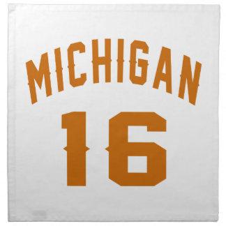 Michigan 16 Birthday Designs Napkin