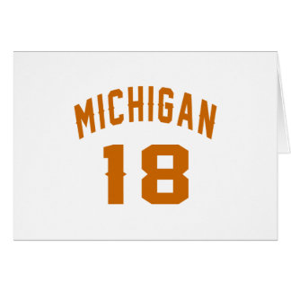 Michigan 18 Birthday Designs Card