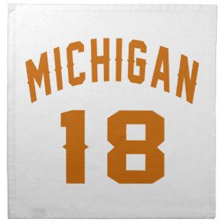 Michigan 18 Birthday Designs Napkin