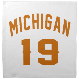 Michigan 19 Birthday Designs Napkin