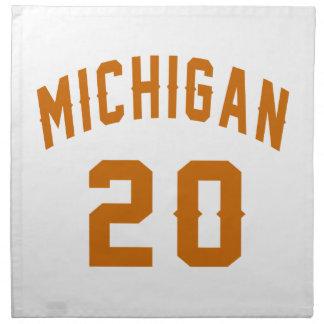 Michigan 20 Birthday Designs Napkin