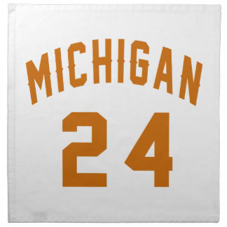 Michigan 24 Birthday Designs Napkin